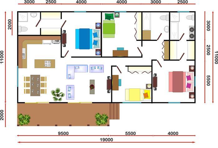Nasionale Houthuise - 3 Slaapkamer Houthuise - Perlemoen